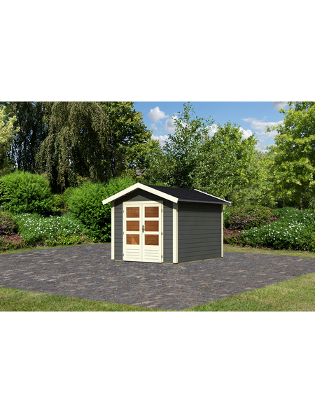 WOODFEELING Gartenhaus »Talkau«, BxT: 270 x 348 cm (Aufstellmaße), Satteldach