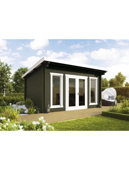 WOLFF FINNHAUS Gartenhaus »Trondheim«, BxT: 400 x 390 cm (Aufstellmaße), Pultdach