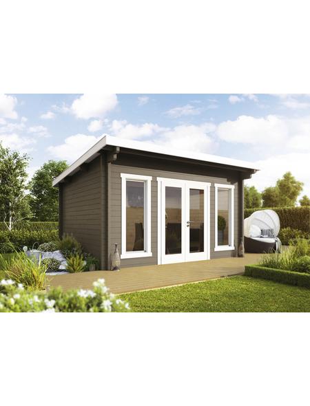 WOLFF FINNHAUS Gartenhaus »Trondheim«, BxT: 400 x 390 cm, Pultdach