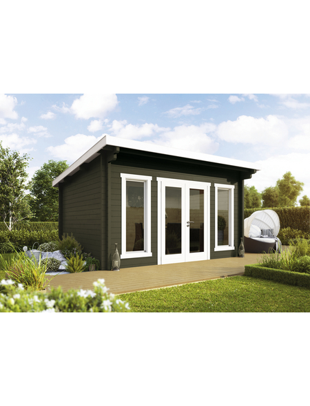 WOLFF FINNHAUS Gartenhaus »Trondheim«, BxT: 400 x 450 cm (Aufstellmaße), Pultdach