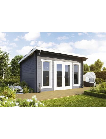 WOLFF FINNHAUS Gartenhaus »Trondheim«, BxT: 430 x 480 cm (Aufstellmaße), Pultdach