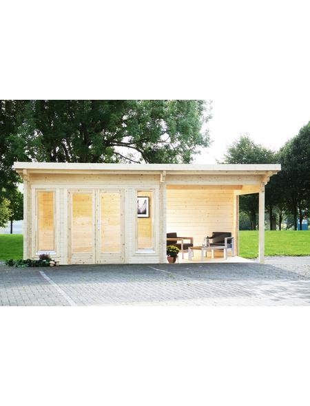 WOLFF FINNHAUS Gartenhaus »Trondheim«, BxT: 870 x 450 cm (Aufstellmaße), Pultdach