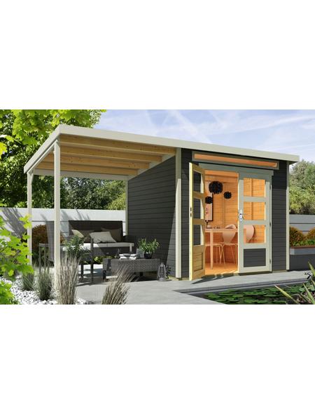 WOLFF FINNHAUS Gartenhaus »Venlo«, BxT: 441 x 236 cm (Aufstellmaße), Pultdach