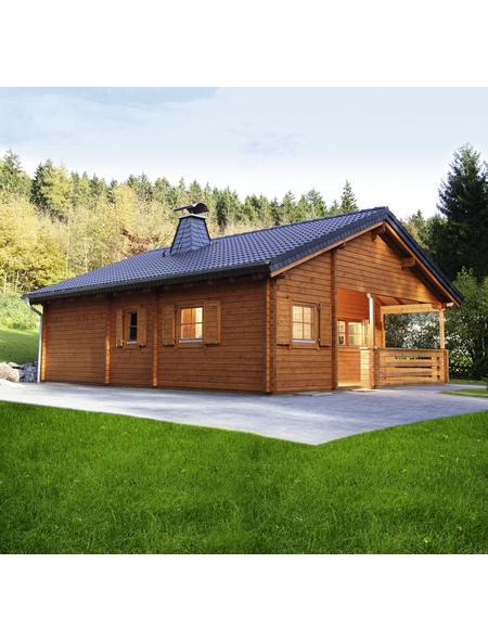 WOLFF FINNHAUS Gartenhaus »Vogelsberg«, BxT: 887.8 x 977.8 cm (Aufstellmaße), Satteldach