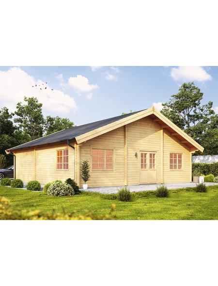 WOLFF FINNHAUS Gartenhaus »Westerwald«, BxT: 988 x 1068 cm (Aufstellmaße), Satteldach