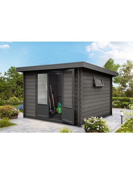 WOLFF FINNHAUS Gartenhaus »WPC-Trend«, BxT: 340 x 332 cm, Pultdach