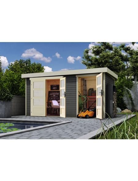 WOLFF FINNHAUS Gartenhaus »Zeeland«, BxT: 428 x 262 cm (Aufstellmaße), Pultdach