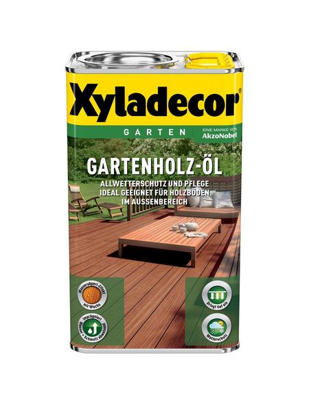 XYLADECOR Gartenholzöl für außen, 2,5 l, natur hell, seidenglänzend