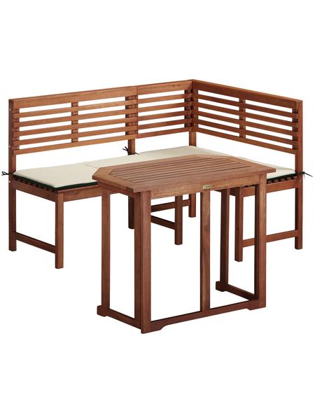MERXX Gartenmöbel, 3 Sitzplätze, inkl. Auflagen
