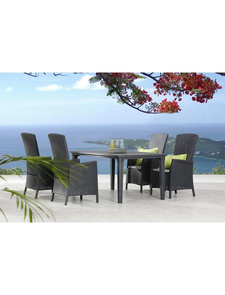 BEST Gartenmöbel »Capri«, 4 Sitzplätze, inkl. Auflagen
