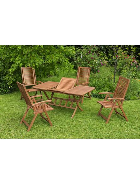 Gartenmöbel »Cordoba«, 4 Sitzplätze, aus Eukalyptusholz
