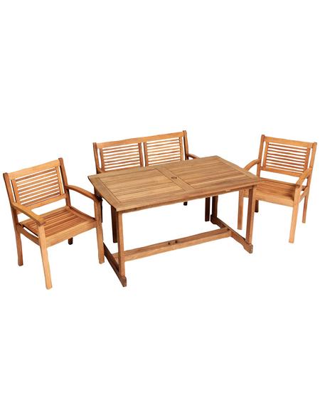 MERXX Gartenmöbel »Cordoba«, 4 Sitzplätze, Eukalyptus