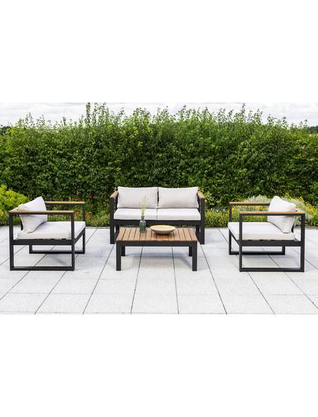 MERXX Gartenmöbel-Eckset »Mykonos«, 4 Sitzplätze, inkl. Auflagen