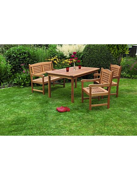 MERXX Gartenmöbel »Lima«, 4 Sitzplätze, aus Eukalyptusholz