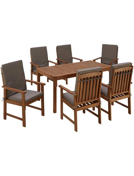 MERXX Gartenmöbel »Montana«, 6 Sitzplätze, inkl. Auflagen