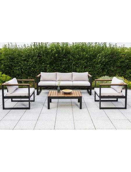 MERXX Gartenmöbel »Mykonos«, 5 Sitzplätze, inkl. Auflagen, Akazie