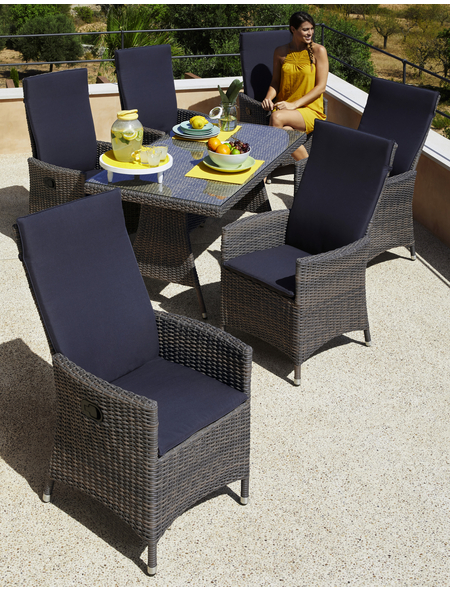 MERXX Gartenmöbel »Ravello«, 6 Sitzplätze, inkl. Auflagen