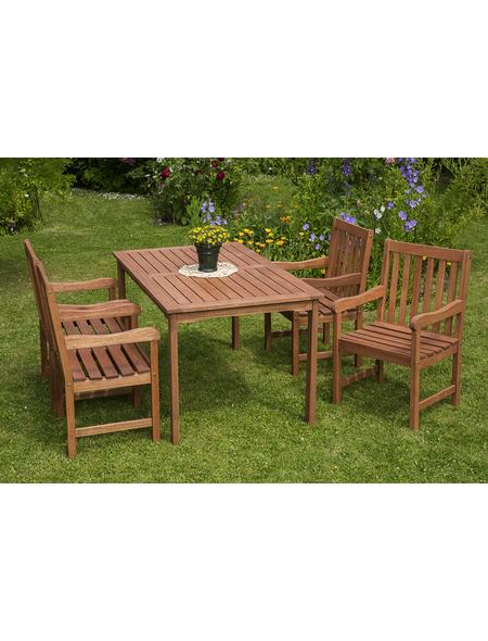 MERXX Gartenmöbel »Santos«, 4 Sitzplätze, Eukalyptus