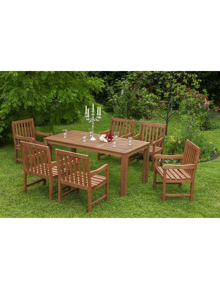 MERXX Gartenmöbel »Santos«, 6 Sitzplätze, Eukalyptus