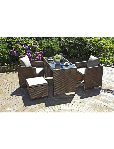 GARDEN PLEASURE Gartenmöbelset, 2 Sitzplätze, inkl. Auflagen