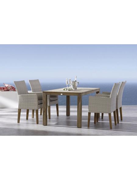 BEST Gartenmöbelset »Alicante«, 4 Sitzplätze, inkl. Auflagen, Teak
