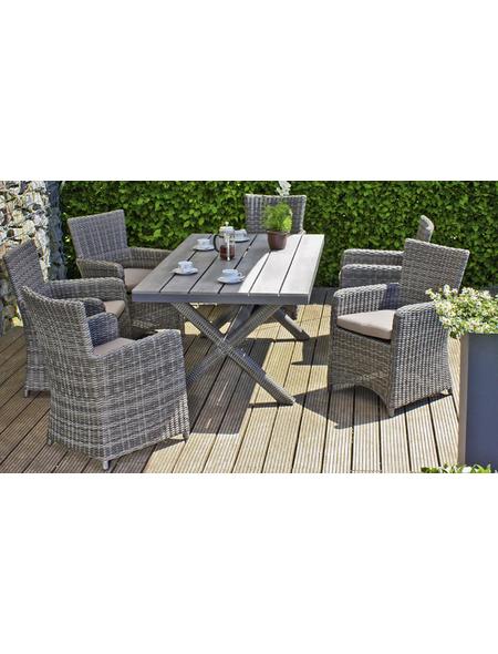 GARDEN PLEASURE Gartenmöbelset »ANZIO«, 4 Sitzplätze, inkl. Auflagen