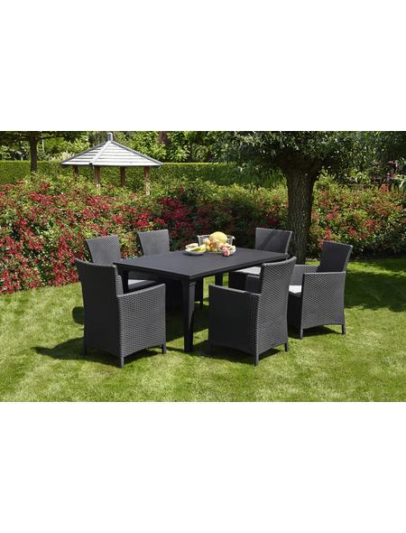 BEST Gartenmöbelset »Napoli«, 6 Sitzplätze, inkl. Auflagen