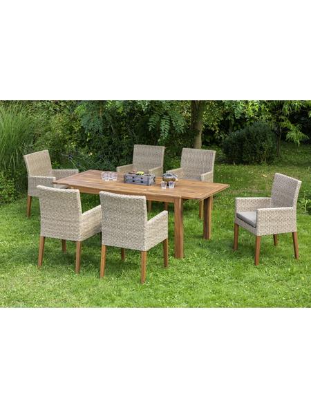 MERXX Gartenmöbelset »Ranzano«, 6 Sitzplätze, inkl. Auflagen, aus Akazienholz