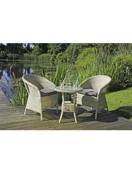 GARDEN PLEASURE Gartenmöbelset »Valga«, 2 Sitzplätze, inkl. Auflagen