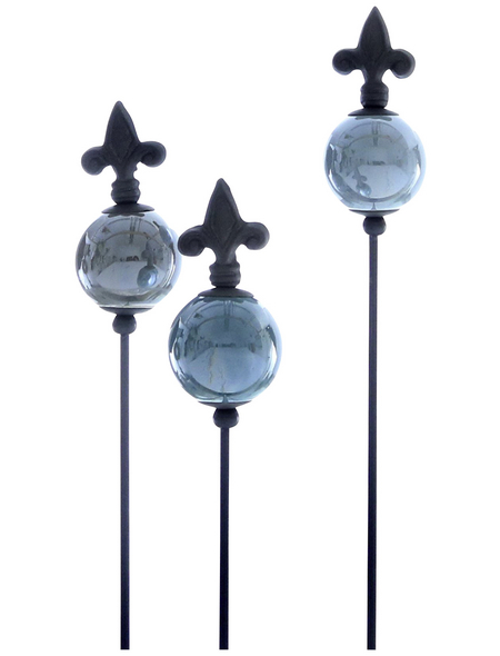 Gartenstecker, Höhe: 83 cm, Keramik