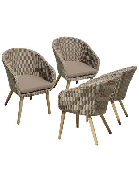 GARDEN PLEASURE Gartenstuhl-Set, 4 Sitzplätze