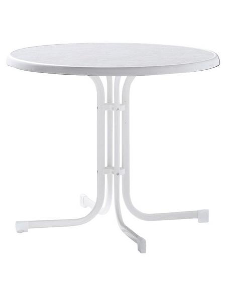 SIEGER Gartentisch »Boulevard-Tisch«, mit Mecalit-pro-Tischplatte, Ø x H: 86 x 72 cm