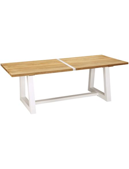 BEST Gartentisch »Campione«, mit Teakholz-Tischplatte, BxTxH: 220 x 100 x 75,5 cm