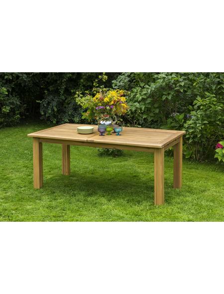 MERXX Gartentisch »Capri«, mit Akazienholz-Tischplatte, BxTxH: 180 x 100 x 74 cm