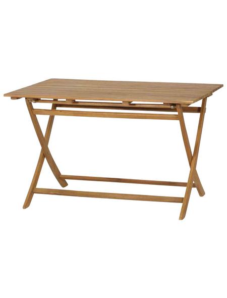 SIENA GARDEN Gartentisch »Falun«, mit Akazienholz-Tischplatte, BxTxH: 120 x 80 x 74 cm