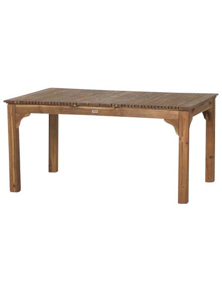 SIENA GARDEN Gartentisch »Falun«, mit Akazienholz-Tischplatte, BxTxH: 150 x 100 x 74 cm