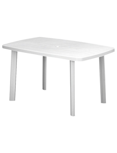 PROGARDEN Gartentisch »Faro«, BxHxL: 90 x 72 x 140 cm, Tischplatte: Kunststoff