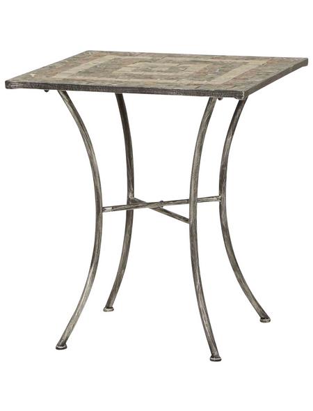 SIENA GARDEN Gartentisch »Felina«, mit Keramik-Tischplatte, BxTxH: 64 x 64 x 69,5 cm