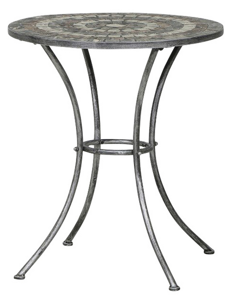 SIENA GARDEN Gartentisch »Felina«, mit Keramik-Tischplatte, Ø x H: 60 x 70 cm