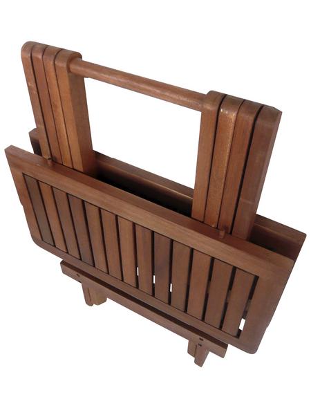 GARDEN PLEASURE Gartentisch »Los Angeles«, mit Holz-Tischplatte, BxTxH: 50 x 50 x 51 cm