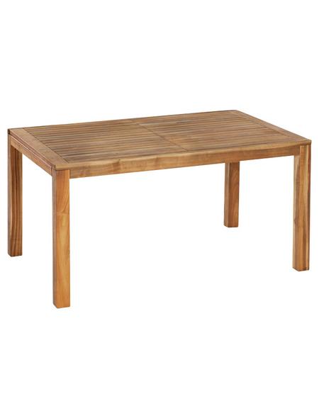 MERXX Gartentisch, mit Akazienholz-Tischplatte, BxTxH: 90 x 150 x 74,5 cm