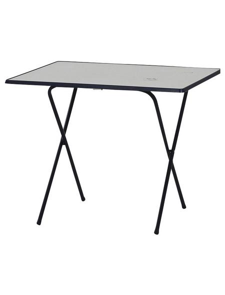 MFG FREIZEITMÖBEL Gartentisch, mit Alcotop-Tischplatte, BxTxH: 80 x 60 x 64 cm