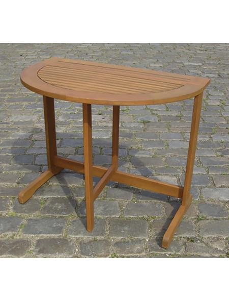 Gartentisch, mit Eukalyptusholz-Tischplatte, BxTxH: 90 x 60 x 74 cm