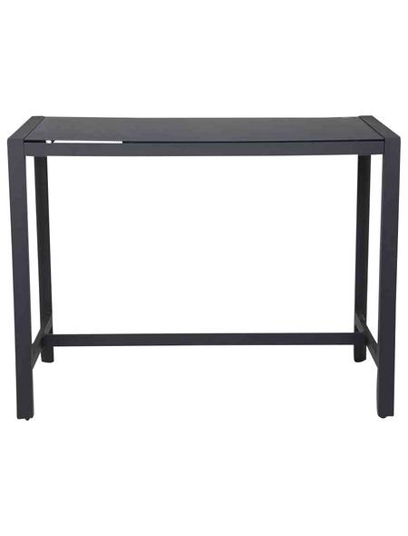 CASAYA Gartentisch mit Fabricglas-Tischplatte, BxTxH: 140 x 80 x 105 cm