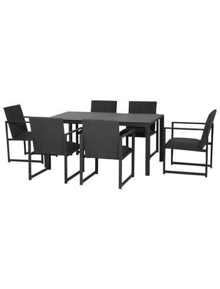 CASAYA Gartentisch mit Glas-Tischplatte