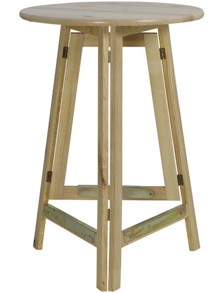 Gartentisch mit Holz-Tischplatte, Ø 78 cm