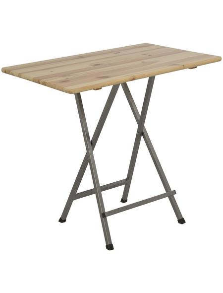 Gartentisch mit Kiefernholz-Tischplatte, BxLxH: 80x120x118 cm