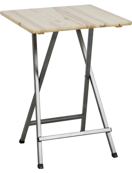 H.G. Gartentisch, mit Kiefernholz-Tischplatte, BxTxH: 80 x 80 x 110 cm