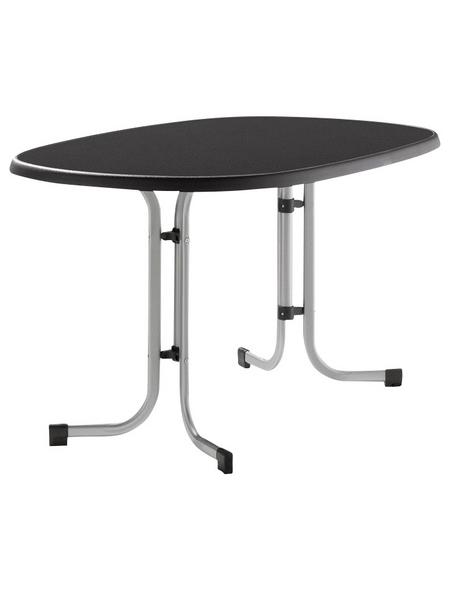 SIEGER Gartentisch mit Kunststoff-Tischplatte, BxLxH: 90x140x72 cm