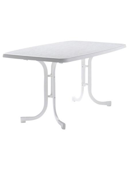 SIEGER Gartentisch, mit Mecalit-pro-Tischplatte, BxTxH: 150 x 90 x 72 cm